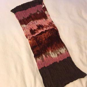 Tie-dye infinity scarf